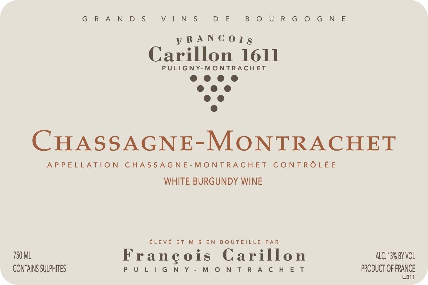 Francois Carillon Chassagne Montrachet 2016