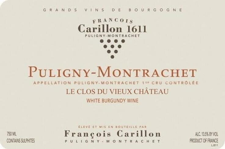 Francois Carillon Puligny Montrachet Le Clos du Vieux Chateau 2016