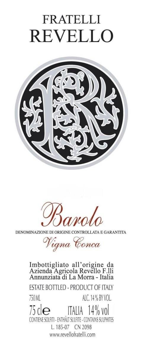 Fratelli Revello Barolo Vigna Conca 2003