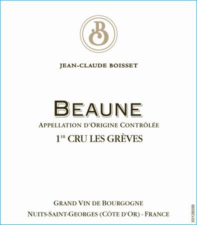 Jean-Claude Boisset Beaune Greves 2016 [95-96pts JS]