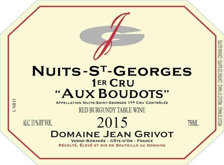 Jean Grivot Nuits St Georges Aux Boudots 2015