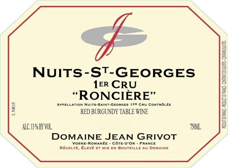 Jean Grivot Nuits St Georges les Roncieres 2014