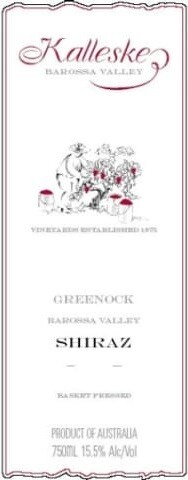 Kalleske Greenock Shiraz 2005