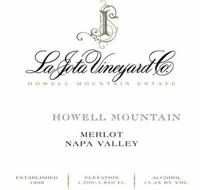 La Jota Merlot Howell Mountain 2010