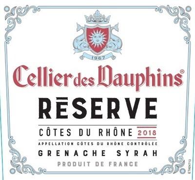 Cellier des Dauphins Cotes du Rhone Reserve 2018 *SALE* [97pts Dec]