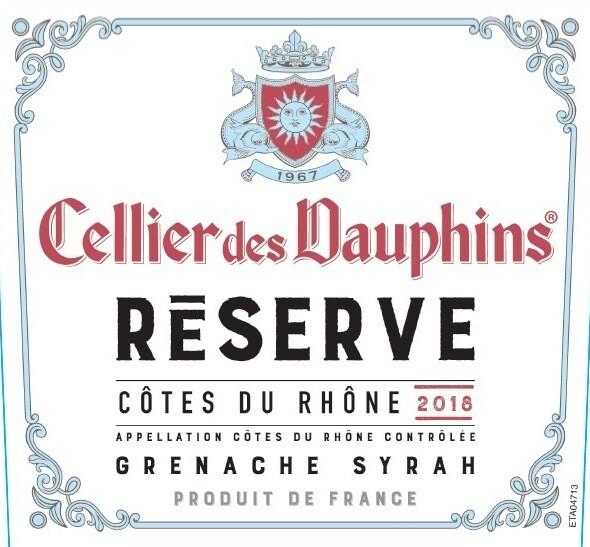 Cellier des Dauphins Cotes du Rhone Reserve 2018 (12-pack)