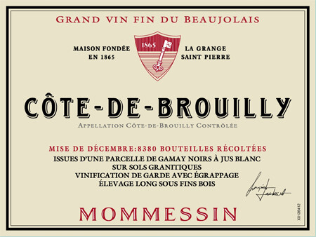 Mommessin Cotes de Brouilly 2017