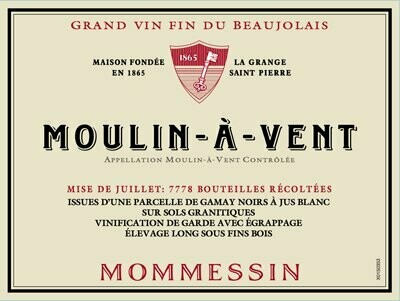 Mommessin Moulin a Vent les Grandes Mises 2016