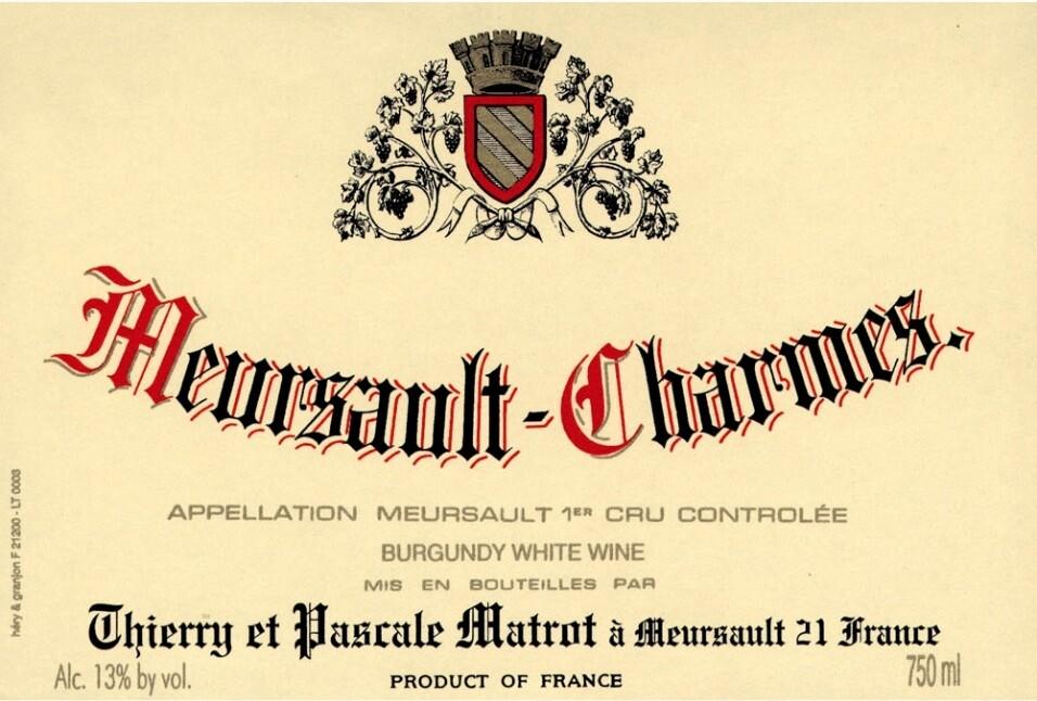 Thierry et Pascale Matrot Meursault Charmes 2016