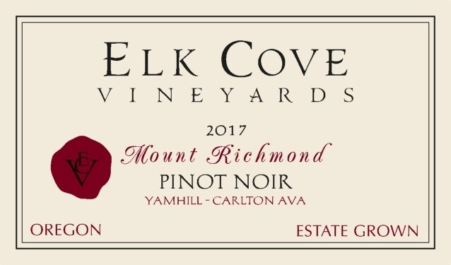 Elk Cove Pinot Noir Mount Richmond 2017