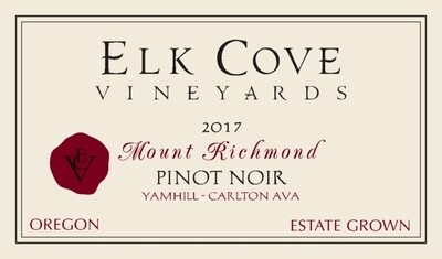 Elk Cove Pinot Noir Mount Richmond 2017