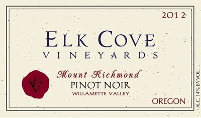 Elk Cove Pinot Noir Mount Richmond 2012