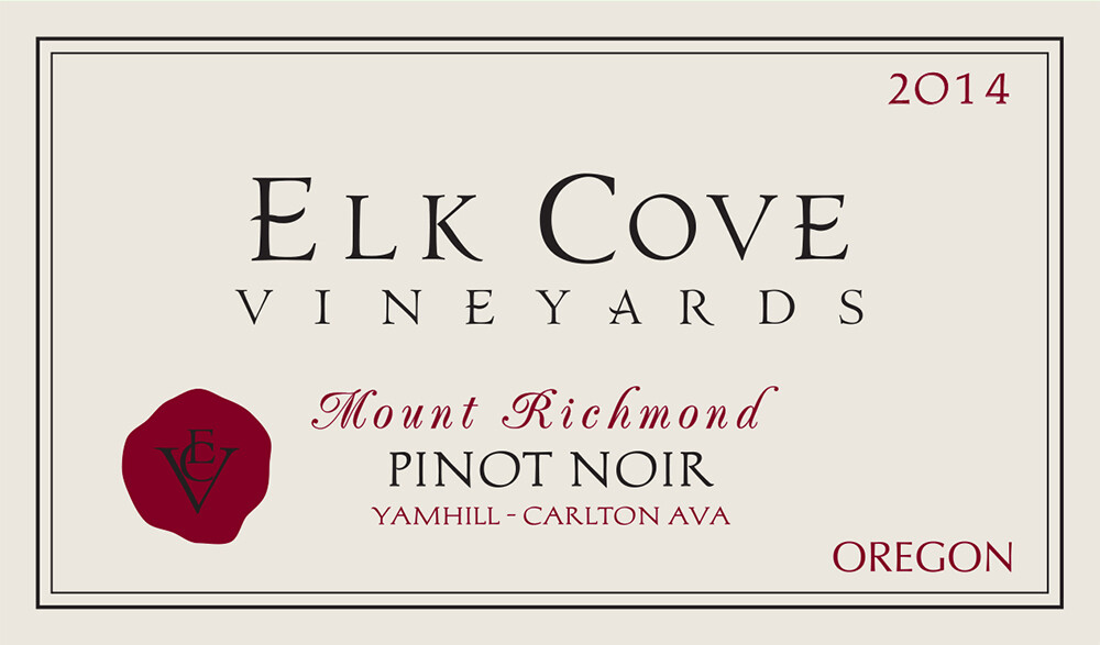 Elk Cove Pinot Noir Mount Richmond 2014