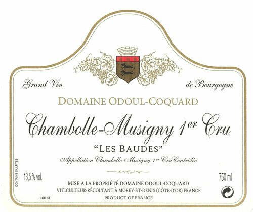 Odoul-Coquard Chambolle Musigny les Baudes 1er Cru 2014