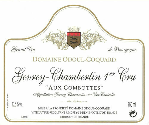 Odoul-Coquard Gevrey Chambertin aux Combottes 1er Cru 2014
