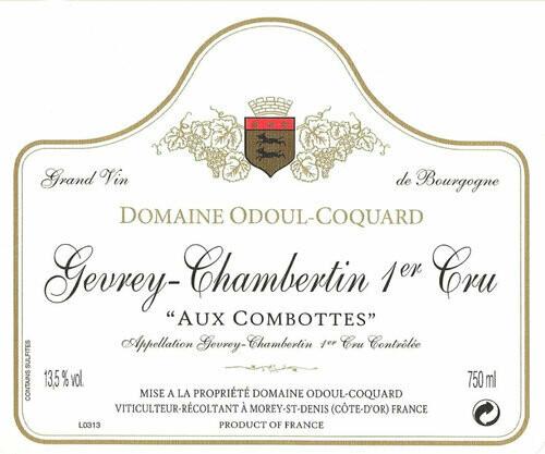 Odoul-Coquard Gevrey Chambertin aux Combottes 1er Cru 2015