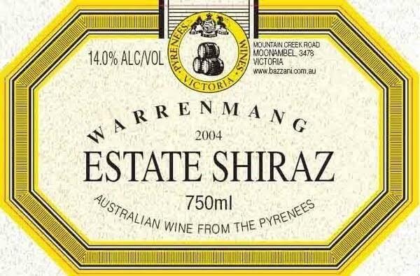 Warrenmang Estate Shiraz 1999