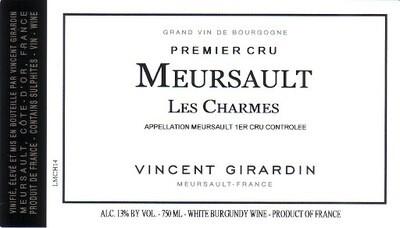 Vincent Girardin Meursault les Charmes 2014