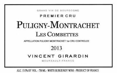 Vincent Girardin Puligny Montrachet les Combettes 2013