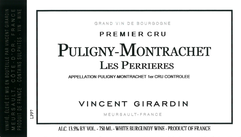 Vincent Girardin Puligny Montrachet les Perrieres 2011