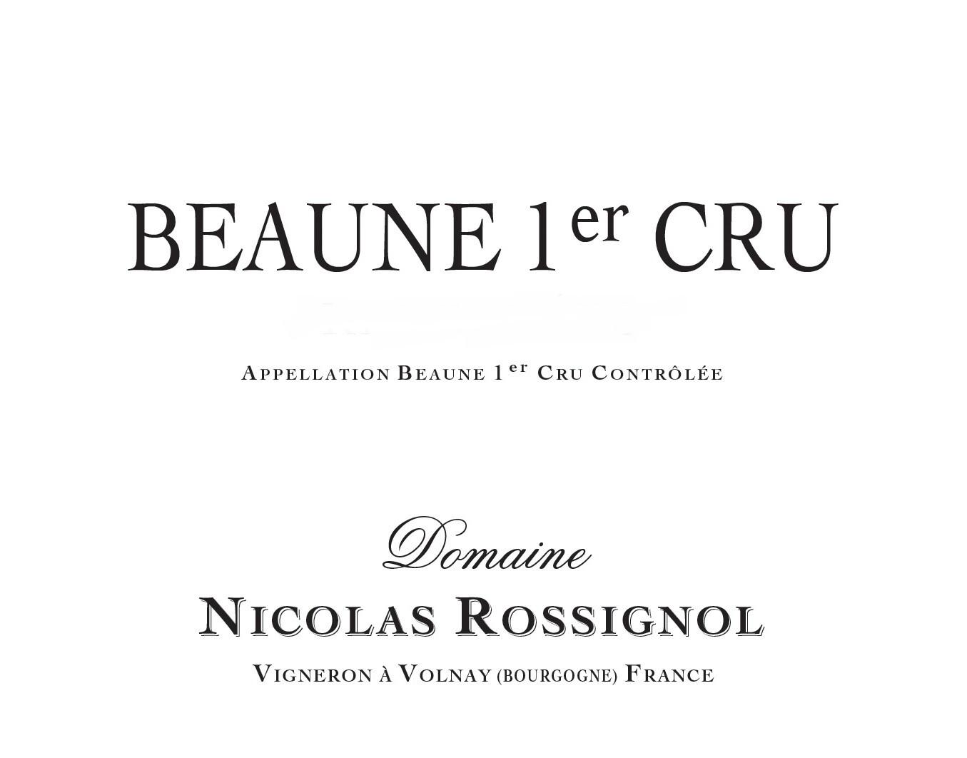 Nicolas Rossignol Beaune 1er Cru 2014