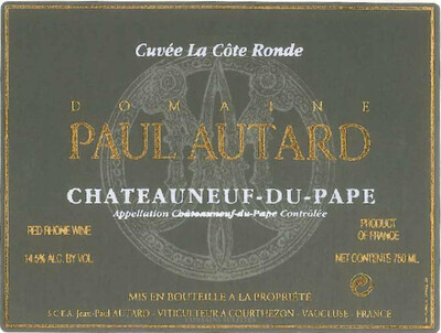 Paul Autard Chateauneuf du Pape Cuvee la Cote Ronde 2000