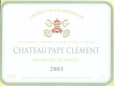 Pape Clement Blanc 2003