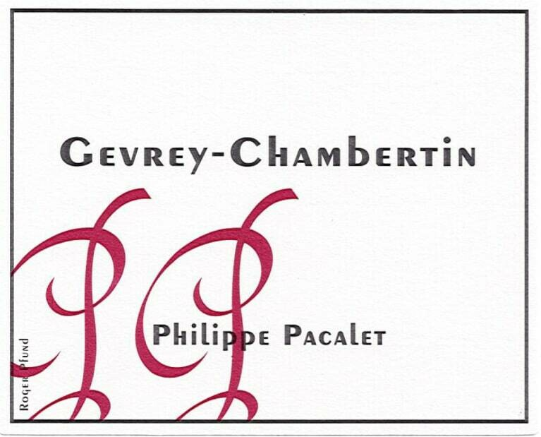 Philippe Pacalet Gevrey-Chambertin 2014
