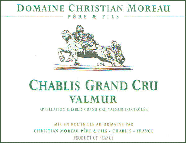 Christian Moreau Chablis Valmur 2013