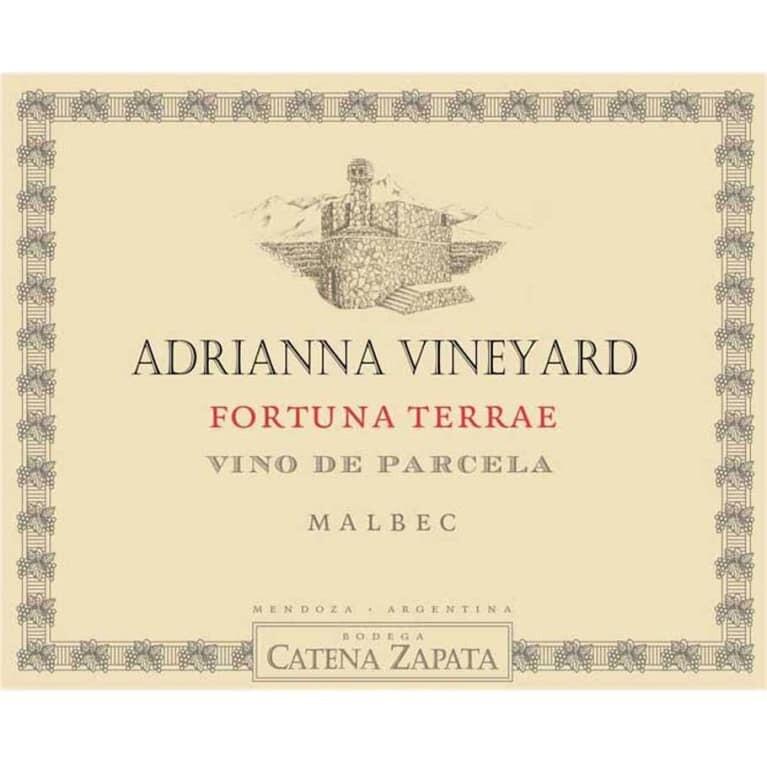 Catena Zapata Fortuna Terrae Adriana Vineyard Malbec 2015