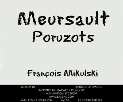 Francois Mikulski Meursault Poruzots 2011