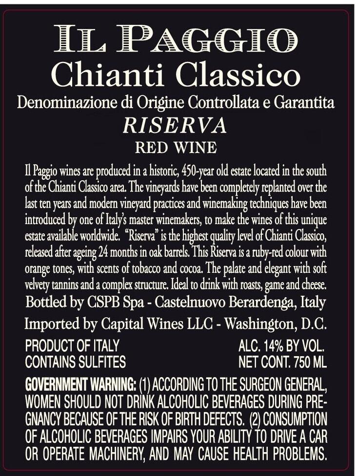 Il Paggio Chianti Classico Riserva 2008