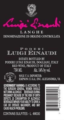 Luigi Einaudi Langhe Rosso 2009