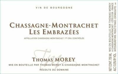 Thomas Morey Chassagne Montrachet les Embrazees 2016