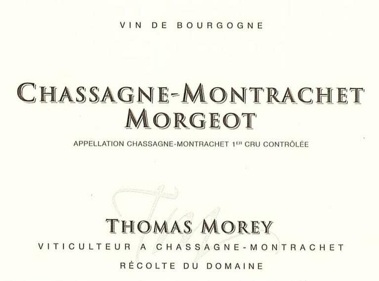 Thomas Morey Chassagne Montrachet Morgeot 2016