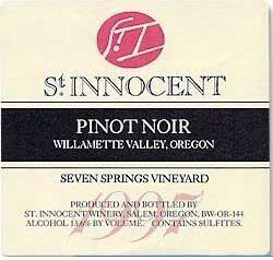 St Innocent Pinot Noir Seven Springs Vineyard 1997