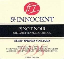 St Innocent Pinot Noir Seven Springs Vineyard 1998