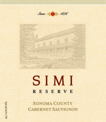 Simi Cabernet Sauvignon Reserve 1991