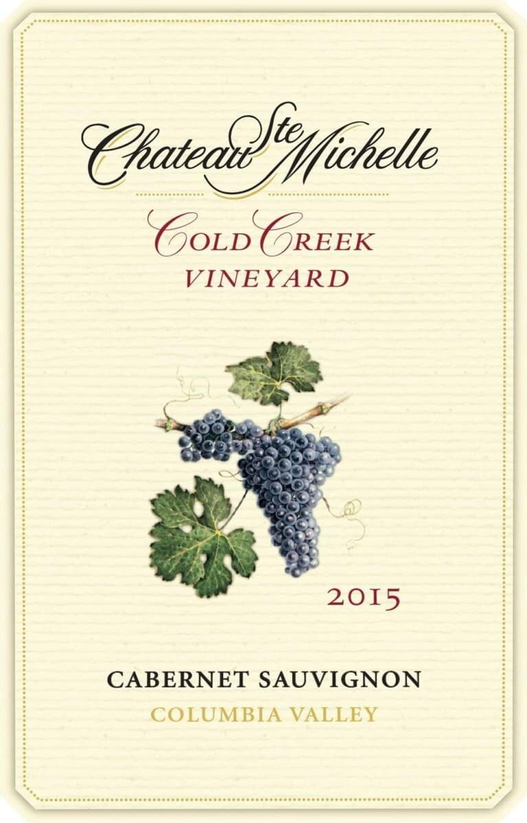 Chateau Ste Michelle Cabernet Sauvignon Cold Creek Valley 2015