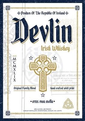 Devlin's Classic Oak Cask Irish Whiskey *SALE*
