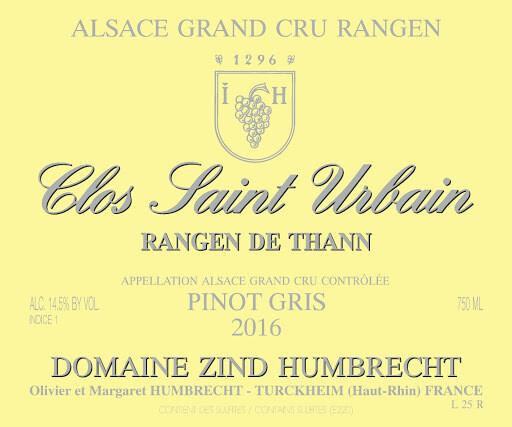 Zind-Humbrecht Pinot Gris Rangen de Thann Clos Saint Urbain 2016 *SALE* [96pts WE]