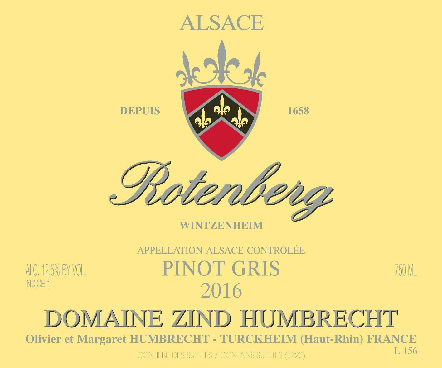 Zind-Humbrecht Pinot Gris Rotenberg 2016 *SALE*