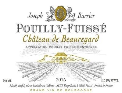 Joseph Burrier Chateau de Beauregard Pouilly Fuisse 2016