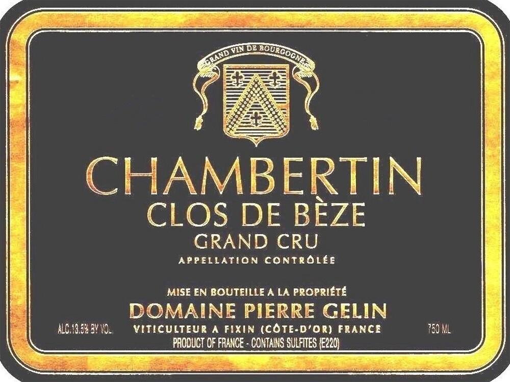 Pierre Gelin Chambertin Clos de Beze Grand Cru 2016 *SALE*