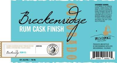 Breckenridge Rum Finished Bourbon