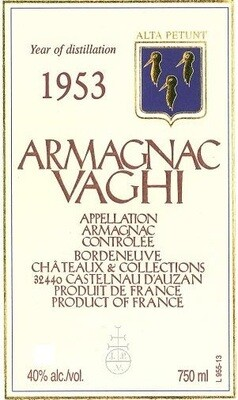 Vaghi Armagnac 1953