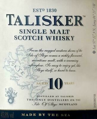 Talisker 10 Year Old Single Malt Scotch