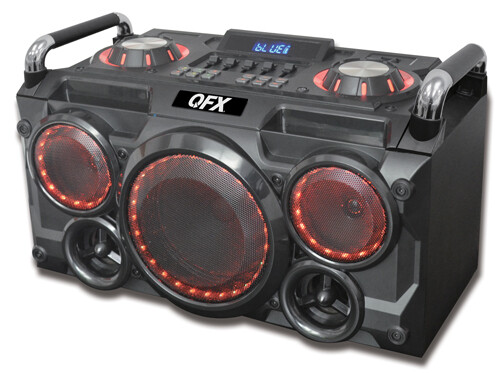 "6.25"" PORTABLE PARTY PA SYSTEM/BOOM BOX PBX-265"