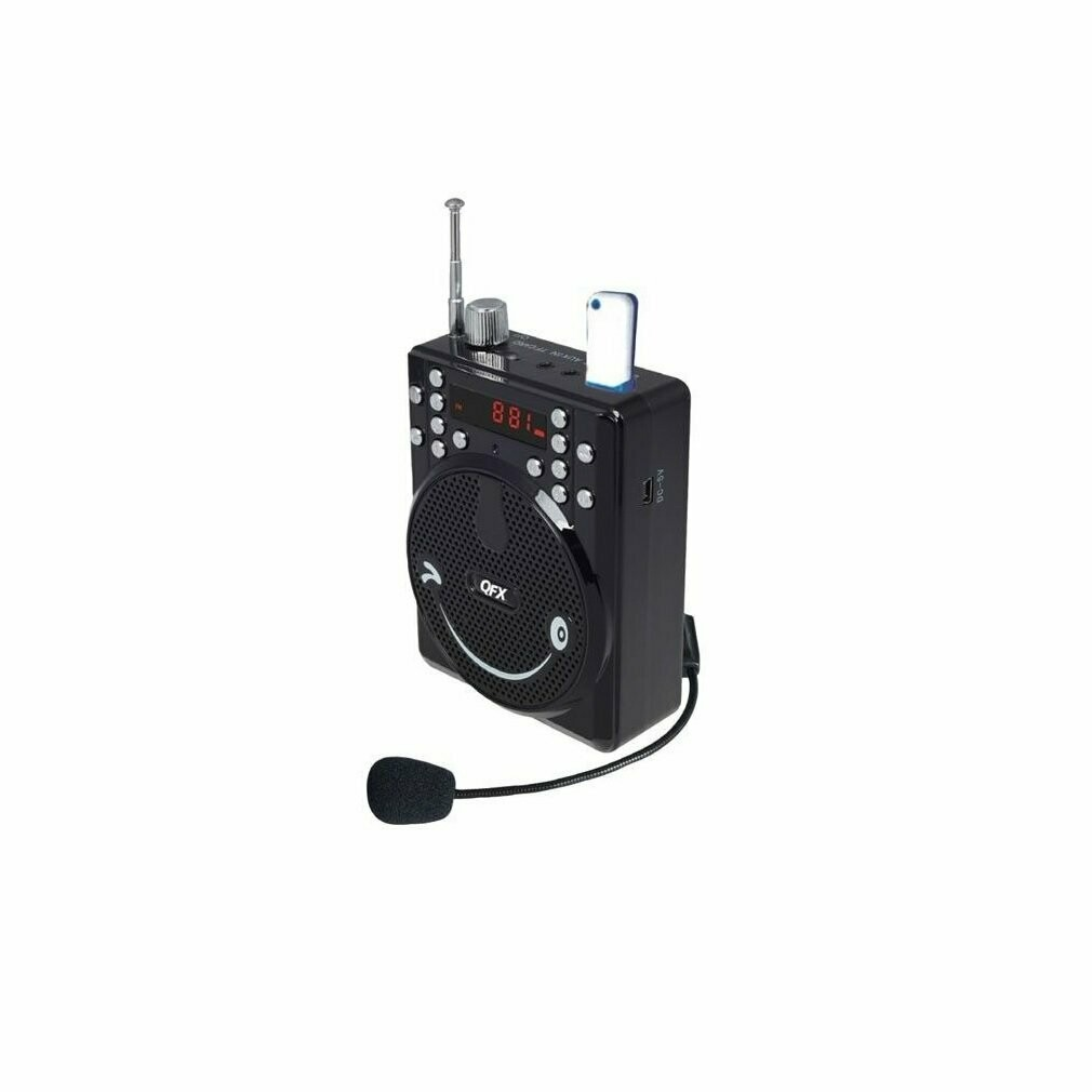 QFX BT-90 Portable PA System w/Bluetooth/FM/USB/MicroSD-In/Headset Mic