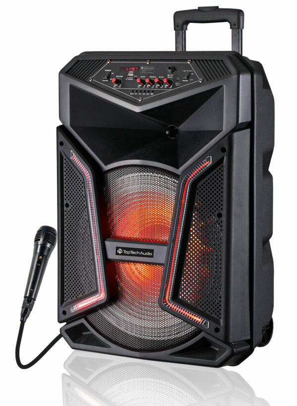 "Fully Amplified Portable 4000 Watts Peak Power 15"" Speaker"